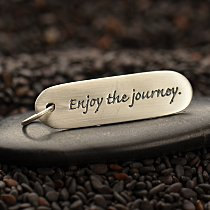 Enjoy the journey Quote Charm - Word Charms, Stamping, Tags, Travel, Graduation, C2607
