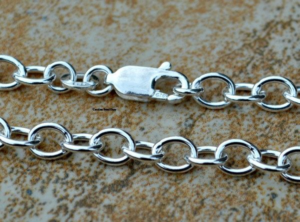 Charm Bracelet Chain with Lobster Clasp - Choose Your Size, Findings, Bracelets, Charms, Links