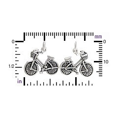 Sterling Silver Bicycle Charm - C804, Closeout Sale, Children, Family, Hobbies, Exercise