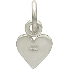 Heart Suit Charm - Sterling Silver,  C1332, Poker,  Love, Romance, Stamping, Blank Charms