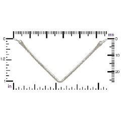 Sterling Silver Hammered Chevron Pendant - C2736, Link, Connector, Bar Links
