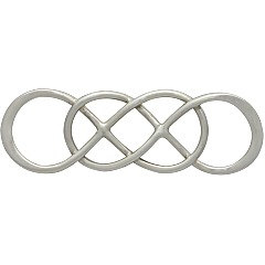 Intertwined Infinity Link Sterling Silver  - C2886, Choose Sterling Silver Or Gold Plated - Sideways Charms, Links, Figure Eight Charms