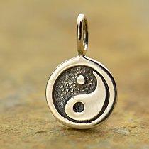 Yin Yang Charm Sterling Silver - C1358, Zen, Yoga, Meditation, Serenity, Balance, Harmony
