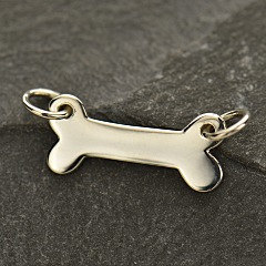 Sterling Silver Dog Bone Stamping Link - C1359, SALE, Pets, Mans Best Friend