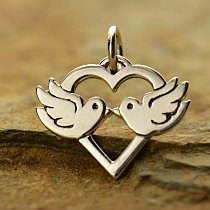 Love Birds Charm - C1345, Bride to Be, Love, Soul Mate, Wedding Charms,