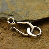 Small Sterling Silver Hook and Eye Clasp - C428, Closure, Clasps, Findings