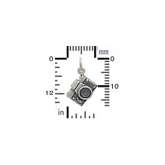 Sterling Silver Camera Charm - Hobby Charms, Photography