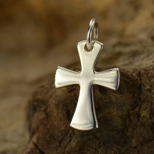 Sterling Silver Celtic Cross Charm - Christ, Faith, Love