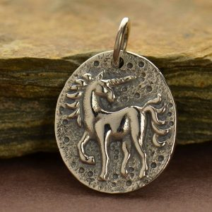 Sterling Silver Ancient Unicorn Coin  -Fantasia Collection, Mystical