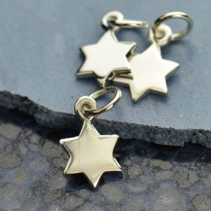 Sterling Silver Star of David Charm - C1448, Stamping Blanks, Spiritual Charms, Faith, Inspire