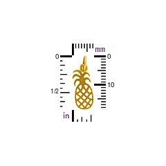 Pineapple Charm - Choose From Sterling Silver or Gold Plated - Symbol of Welcome, Friendliness, Gracious, C718