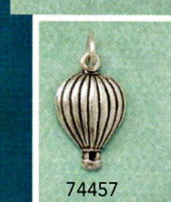 Oxidized Small Sterling Silver Hot Air Balloon Charm, C74457, SALE