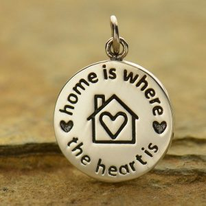 Home is Where the Heart Is Charm - C6001, SALE, Love, Family, Children, Mom