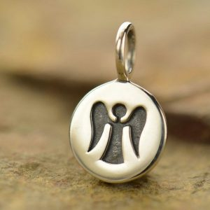 Angel Stamped Charm - Spiritual Charms, C700