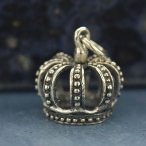 Small Crown Charm - C683, Sterling Silver, Children, Family, Princess, Pirate