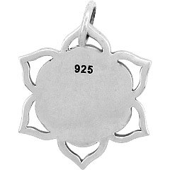 Seed of Life Lotus Charm - C1508, Sterling Silver, Flower of Life, Fruit of Life, Geometric Shapes