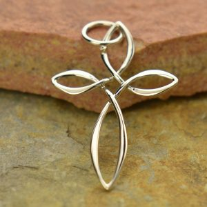 Sterling Silver Celtic Style Cross Pendant - Spiritual, Blessed, Faith, C2936