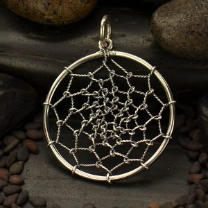 Dream Catcher Pendant - C3000, Native American, Protective Charm, Dreamcatcher, Talisman, Southwest