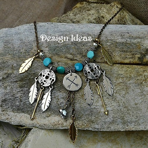 Feather Charm - C845, Choose Sterling Silver, Natural Bronze, Silver Plated, Gold Plated Bronze, Native American, South West