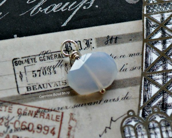 Blue Chalcedony Gemstone Wire Wrapped Dangles Sterling Silver  - Below Retail Cost