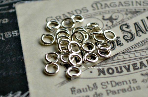 5.5mm 18ga Open Hard Snap Locking Rib Jump Rings - Bulk Discounts (10PK, 25PK, 50PK, 100PK) - CJ1055, Findings, Open Jump Rings