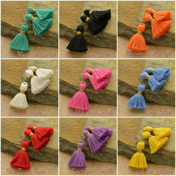 CLOSE OUT SALE - Tassels - Mini Cotton Tassels - C9 Series, Select Your Favorite Style