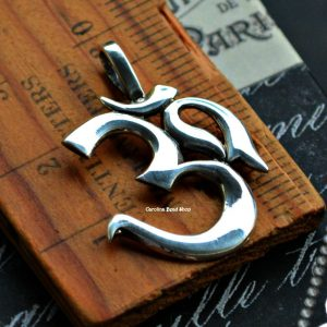 Ohm Pendant Sterling Silver - C5083, SALE, Yoga, Meditation, Buddhism, Spiritual Charms