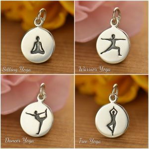 Yoga Pose Charms - C1495, C1496, C1497, C1498, Yoga Spirit Charms, Meditation, Spiritual, Mental, Physical