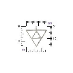 Triangle Pyramid Link -  C2991, Abstract Charms, Double Triangle, Connector Link, Geometric Shape
