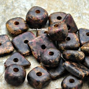 10g Mykonos Multi Color Pebbles 8-13mm  - Autumn Rust - Greek Ceramic Beads