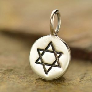 Star of David Charm Sterling Silver - C768, Symbol of Unity