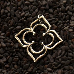 Petaled Clover Link Sterling Silver  - C1175, Good Luck Charms, Links, Pendants