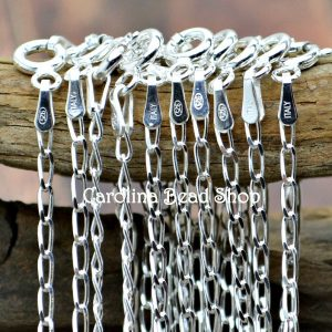 Sterling Silver 1.8mm Long Curb Chain - 18 inches