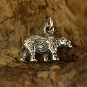 Bear Charm Sterling Silver  - C1568  Native Americans, War, Bravery, Good Health, Protection