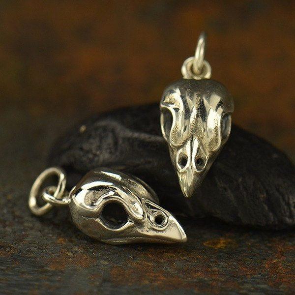 Sparrow Bird Skull Charm - C1613 - Bones, Skeleton, Skull, Sparrow Skull