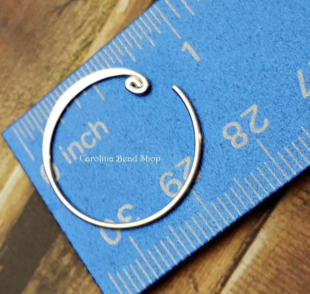 Curled Hoop Earring Finding - C4055, Sterling Silver - Findings, Hoop Style, Wholesale Listing Price