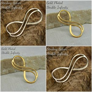 Small 24K Double Wire Infinity Link -  C2765, Select Your Favorite Style, Figure 8 Charms, Sideways Charms, Findings, Love