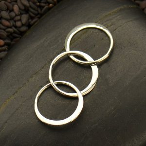 Circle Link Chain Segment - C3098, Sterling Silver, Connector Links, Circle Links
