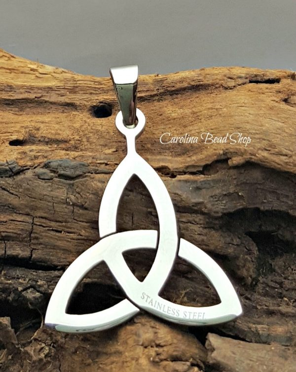 Celtic Triquetra Pendant - Stainless Steel, Marquis Shapes, Pendant