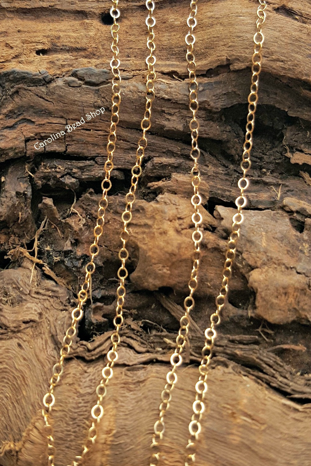 Gold Fill 1.4mm Flat Cable Bulk Chain - 5 10 20 50 100 Ft