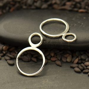Double Circle Link  - C3082, Sterling Silver, Wholesale, Findings, Infinity Links
