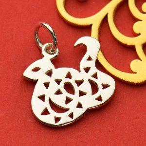 SALE - Chinese Zodiac Snake Charm - C1716, Sterling Silver, Shengxiao, Lunar Calendar