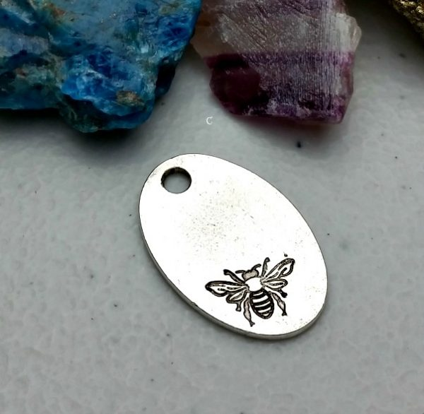 stamping blank bee charm
