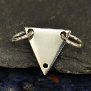 PS01662 Large Marquis Link Silver Pendant Sterling Silver Marquis Link Skinny Marquis Link Sterling Silver Charm