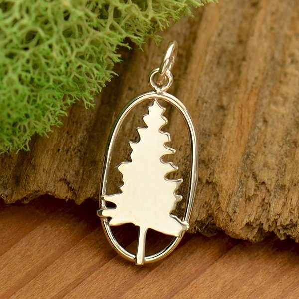 sterling silver tree charm