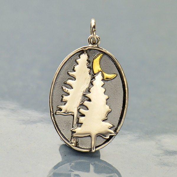 pine tree with bronze sun