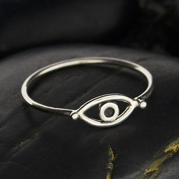Stacking Rings Sterling Silver Evil Eye  Ring Sterling Jewelry,Protection Jewelry